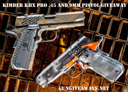 Kimber KHX Pro .45 or 9mm Pistol Giveaway
