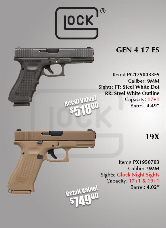 glock 17 and glock 19x giveaway