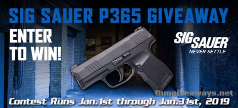 Sig Sauer P365 Pistol Giveaway | Gungiveaways net